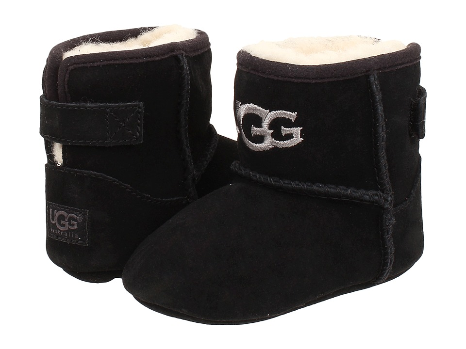 UGG Kids - Jesse (Infant/Toddler) (Black (Suede)) Kid's Shoes