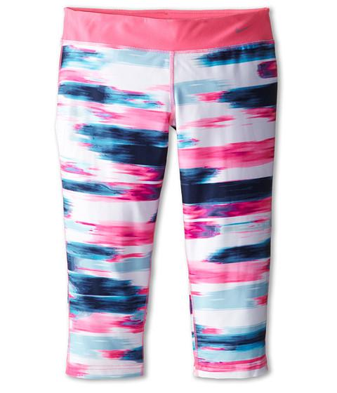 Nike Kids - YA Legend Tight AOP Capri (Little Kids/Big Kids) (Pink Pow/Pink Pow/Cool Grey) Girl