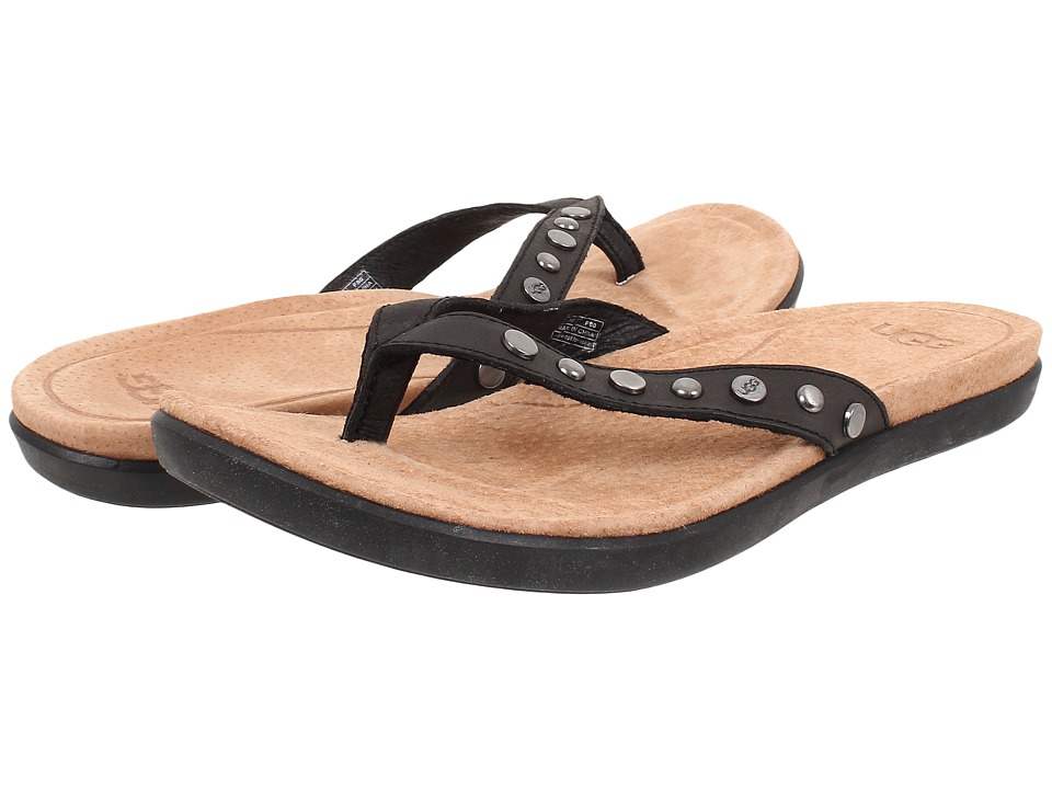 UGG - Lyndi (Black Leather) Women's Sandals