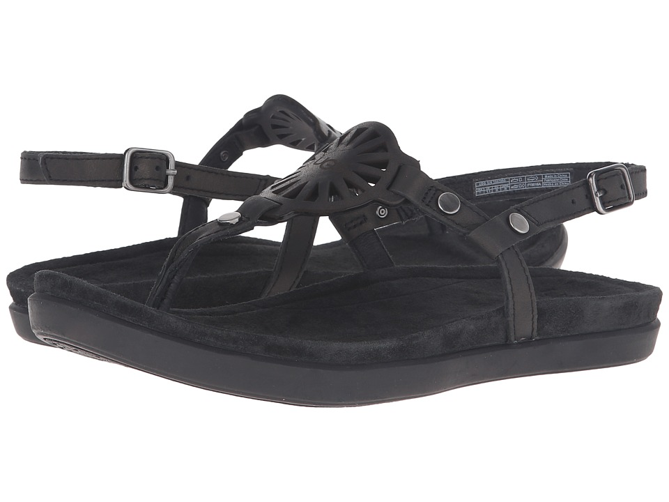 UGG - Ayden (Black Leather) Women's Sandals