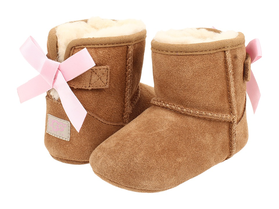 UGG Kids - Jesse Bow (Infant/Toddler) (Chestnut (Suede)) Girl's Shoes