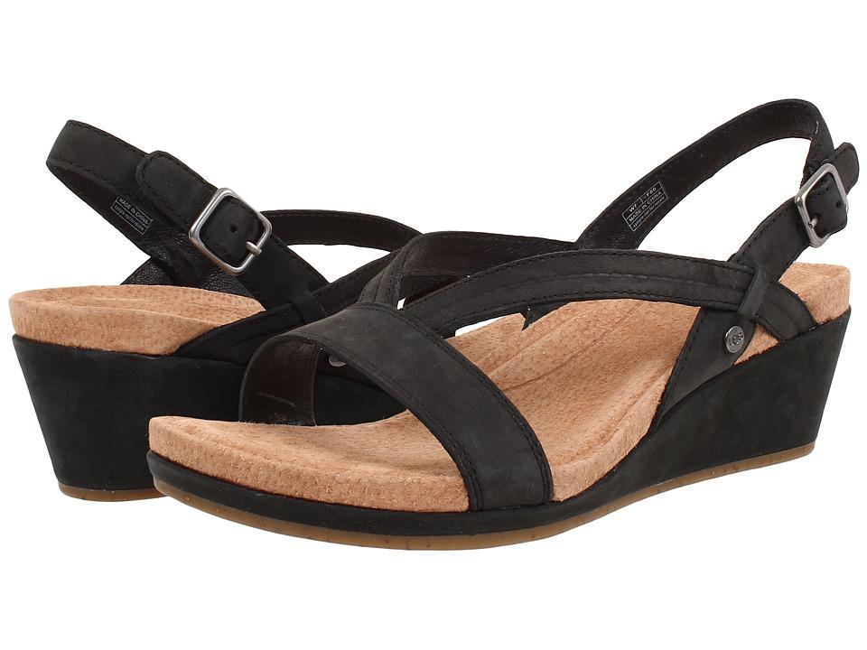 UGG - Kenley (Black Nubuck) Women's Wedge Shoes