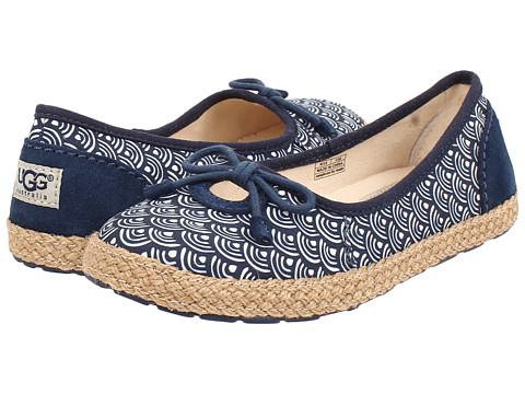 UGG Kids - Ronna Scallop (Little Kid/Big Kid) (Navy) Girl's Shoes