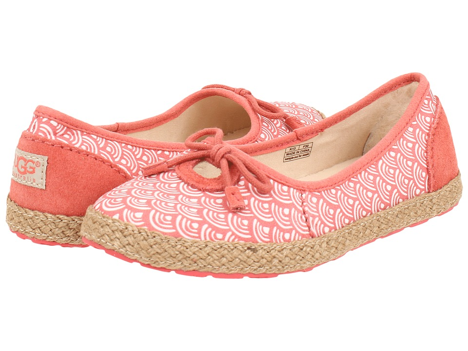 UGG Kids - Ronna Scallop (Little Kid/Big Kid) (Coral Reef) Girl's Shoes