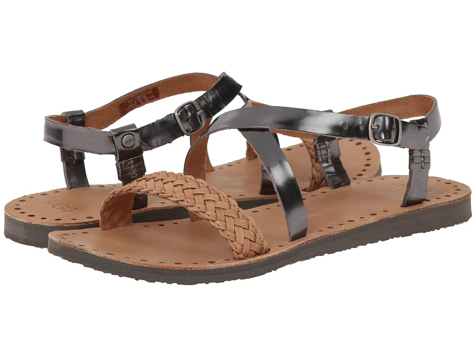 UGG - Jordyne (Pewter Leather) Women's Sandals