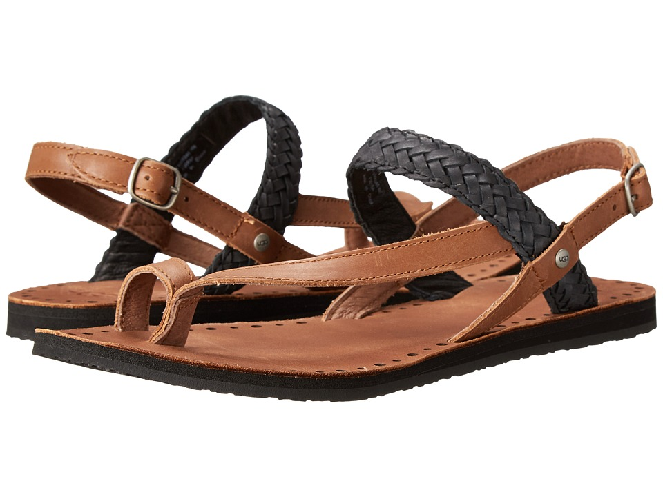 UGG - Raee (Black Leather) Women's Sandals