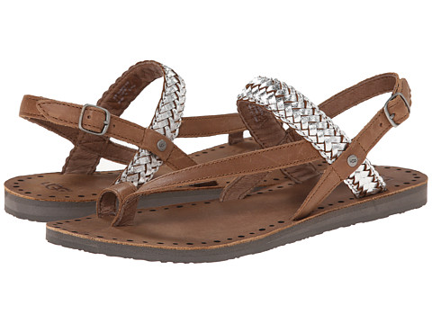 UGG - Raee (Silver Leather) Women's Sandals