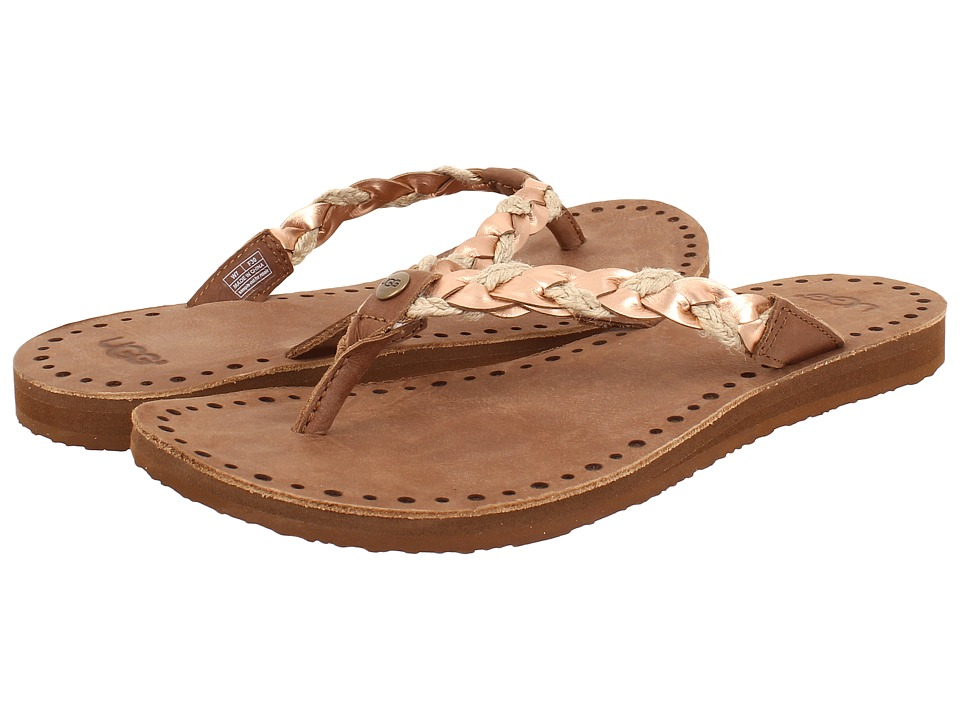 UGG - Navie (Rose Gold Leather) Women's Sandals