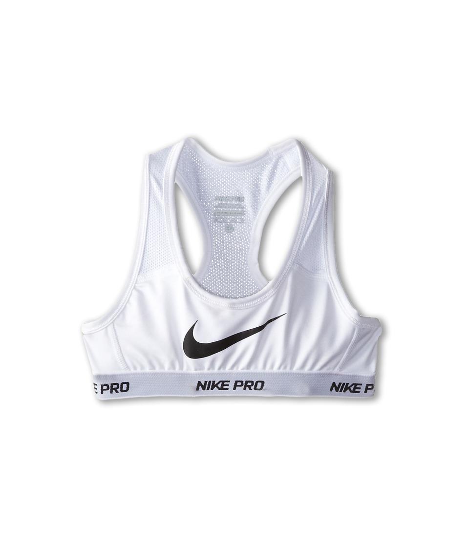 Nike Kids - Pro Hypercool Sports Bra (Little Kids/Big Kids) (White/White/White/Black) Girl's Bra