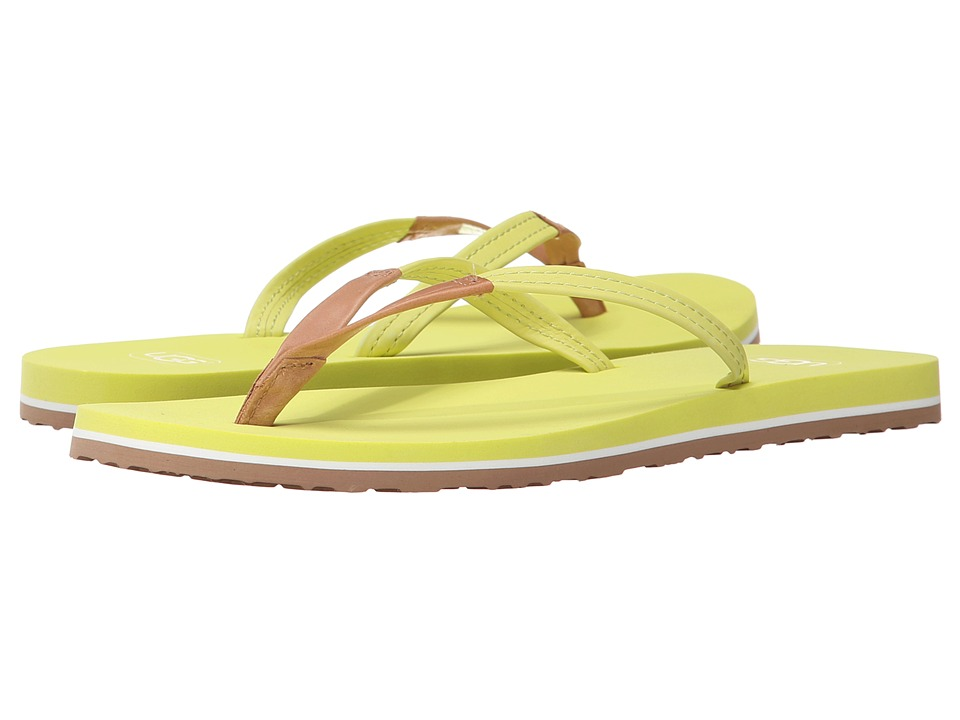 UGG - Magnolia (Sunny Lime Leather) Women's Sandals
