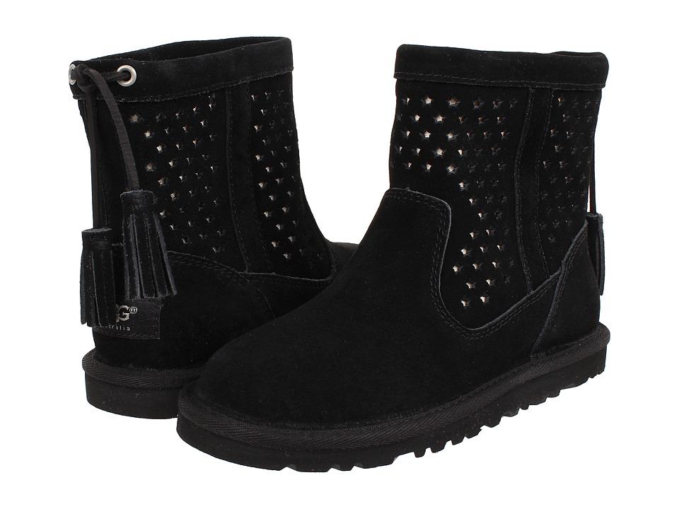 UGG Kids - Kaelou (Toddler/Little Kid/Big Kid) (Black (Suede)) Girl's Shoes