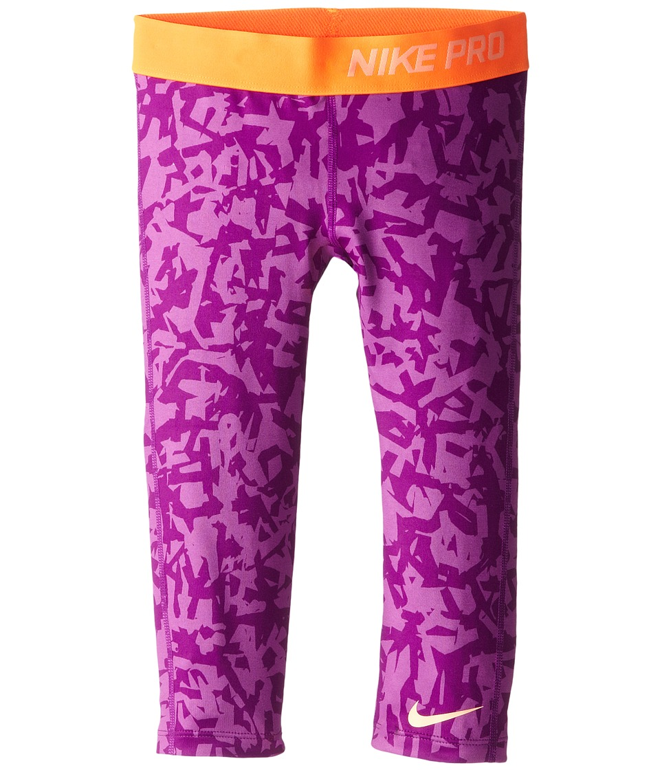 Nike Kids - Pro AOP Capri (Little Kids/Big Kids) (Bold Berry/Total Orange/Sunset Glow) Girl