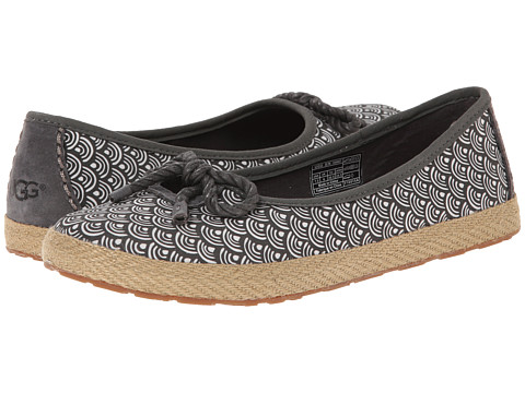 UGG - Syleste Scallop (Charcoal Textile) Women's Slip on Shoes