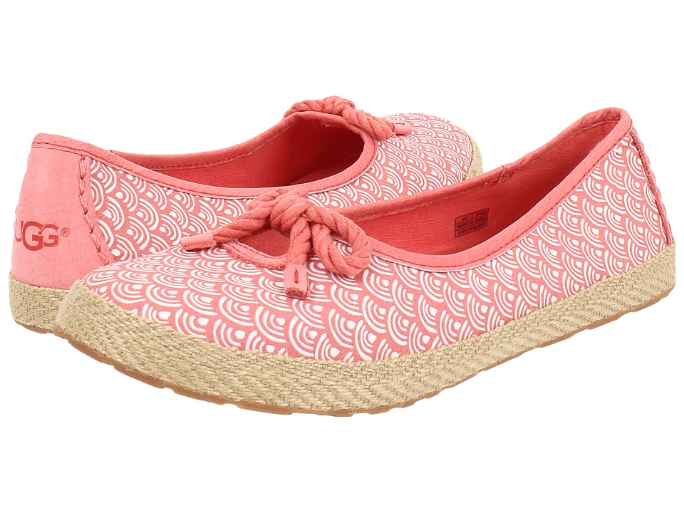 UGG - Syleste Scallop (Coral Reef Textile) Women's Slip on Shoes