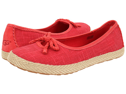 UGG - Syleste (Red Textile) Women's Slip on Shoes