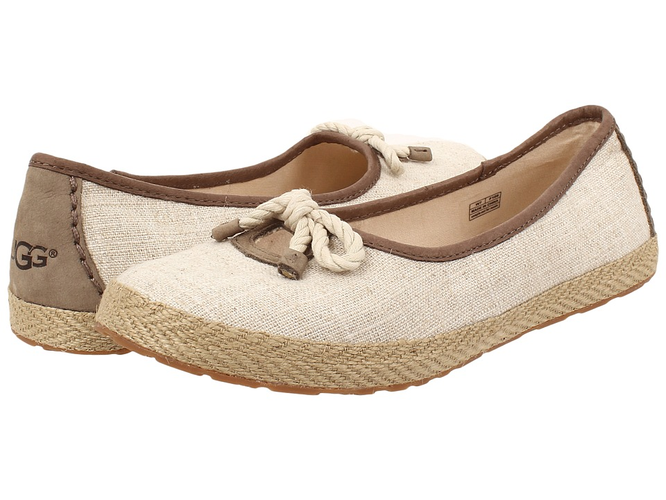 UGG - Syleste (Natural Textile) Women's Slip on Shoes