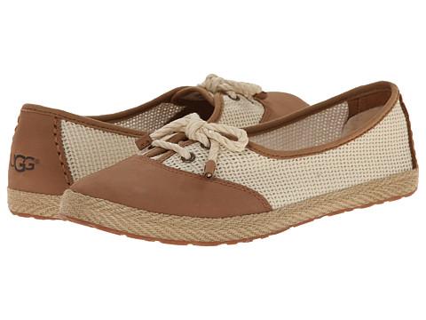 UGG - Catrin Crochet (Chestnut/Textile/Nubuck) Women's Slip on Shoes