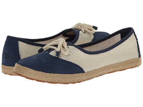 UGG - Catrin Crochet (Navy/Textile/Nubuck) Women's Slip on Shoes