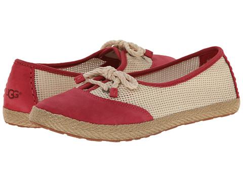 UGG - Catrin Crochet (Red/Textile/Nubuck) Women