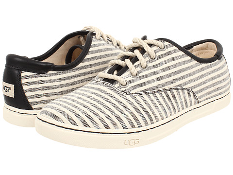 UGG - Eyan II Stripe (Black/Cotton/Leather) Women's Lace up casual Shoes