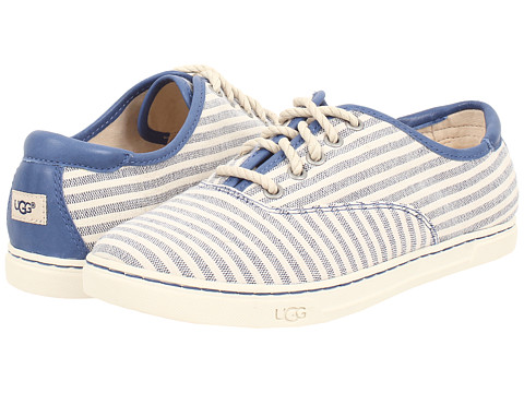 UGG - Eyan II Stripe (Navy/Cotton/Leather) Women's Lace up casual Shoes