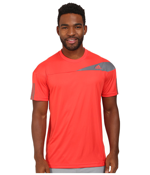 adidas - Response Tee (Bright Red/Vista Grey) Men