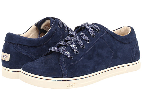 UGG - Tomi Scallop (Navy Suede) Women's Lace up casual Shoes
