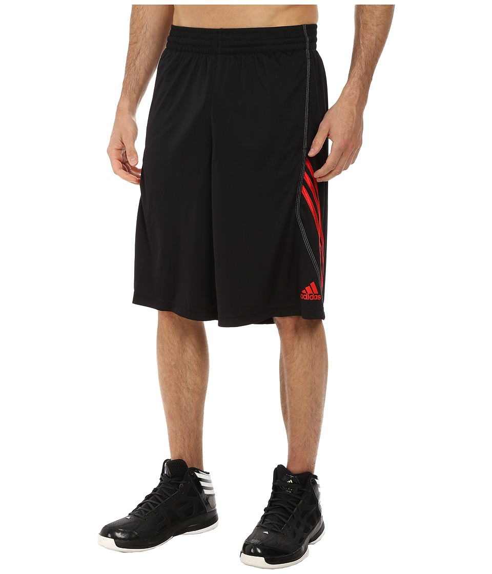 adidas - Basic Short 1 (Black/Scarlet) Men's Shorts
