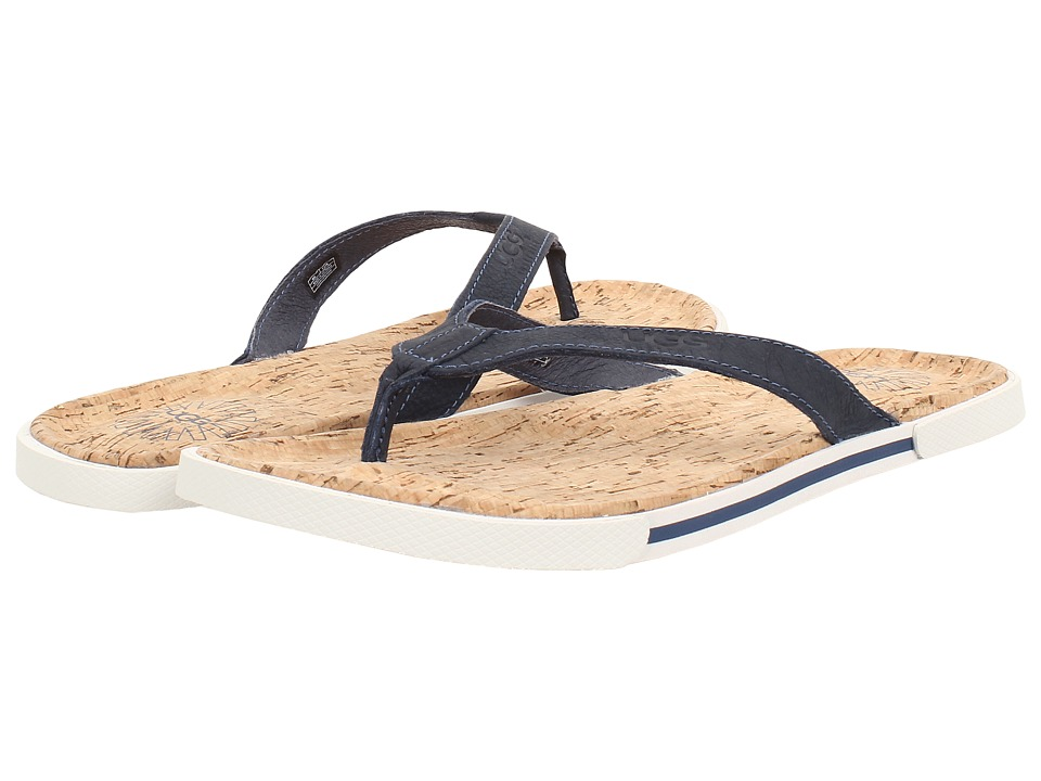 UGG - Bennison II Cork (Navy Nubuck) Men's Sandals
