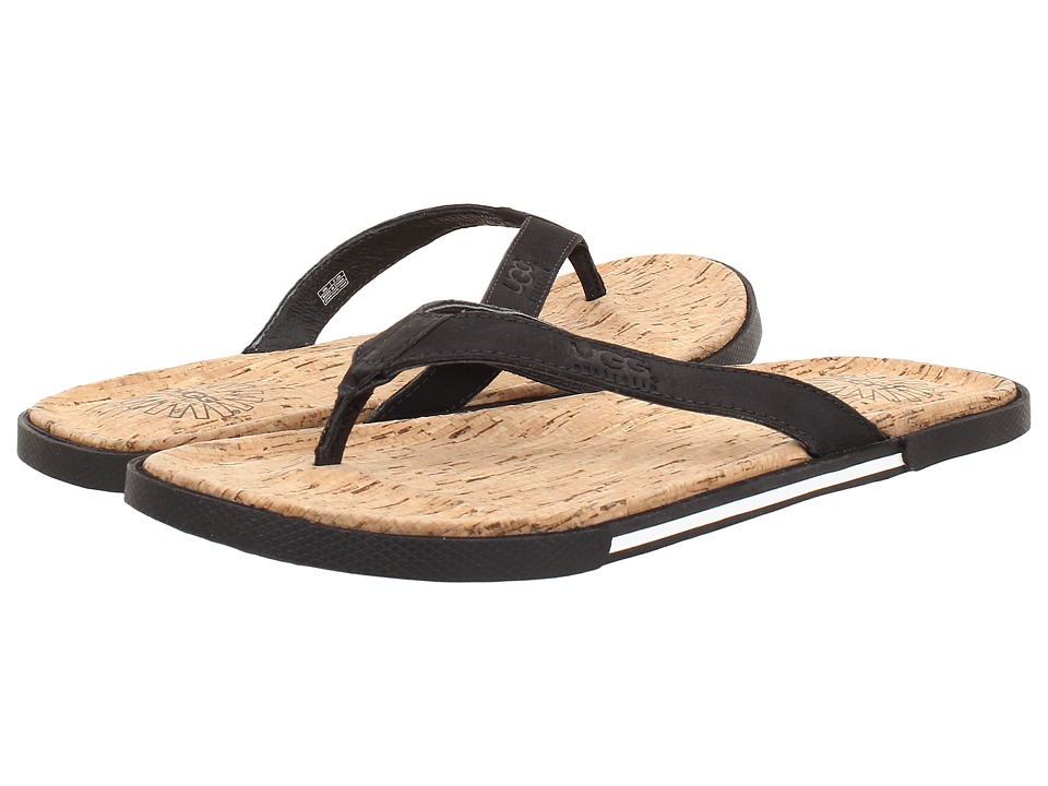 UGG - Bennison II Cork (Black Nubuck) Men's Sandals