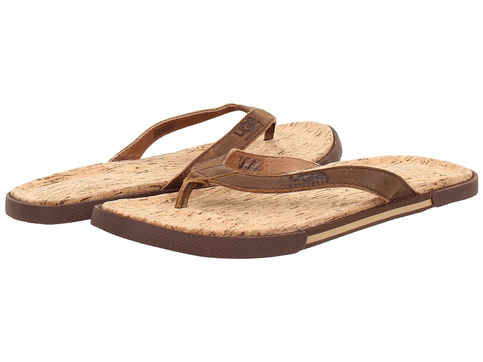 UGG - Bennison II Cork (Luggage Nubuck) Men's Sandals
