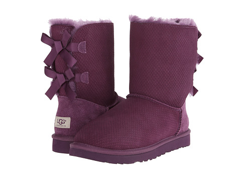 UGG - Bailey Bow Exotic Scales (Anemone Suede) Women