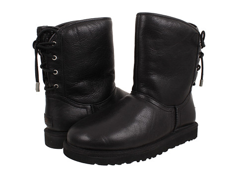 UGG - Mariana (Black Leather) Women's Lace-up Boots