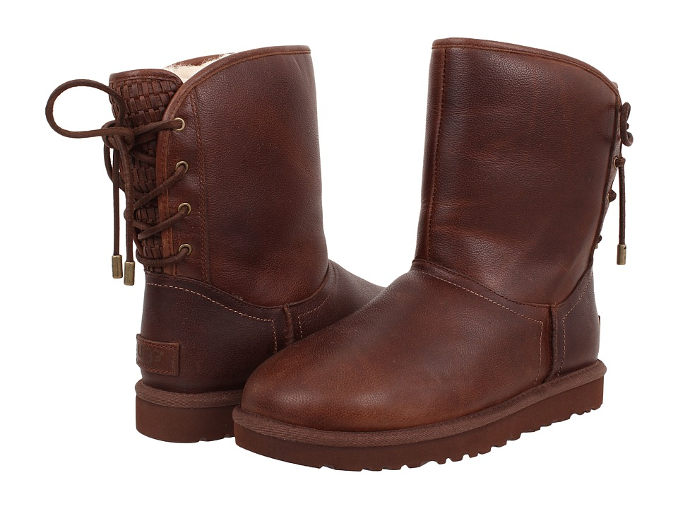UGG - Mariana (Chestnut Leather 2) Women's Lace-up Boots