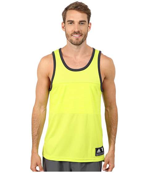 adidas - Team Speed Tank (Semi Solar Yellow/Dark Grey) Men