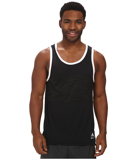 adidas - Team Speed Tank (Black/White) Men's Sleeveless