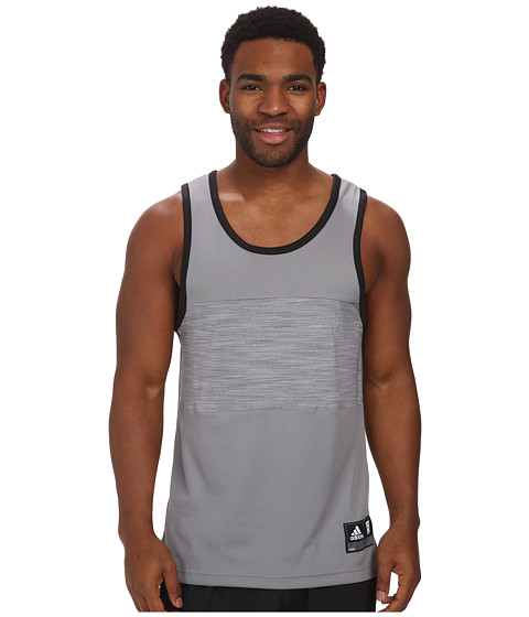 adidas - Team Speed Tank (Grey/Black) Men's Sleeveless