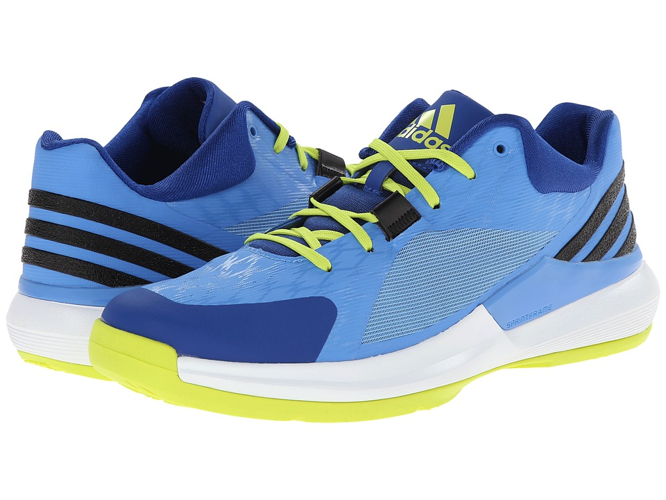 adidas - Crazy Strike Low (Lucky Blue/Semi Solar Yellow/Collegiate Royal) Men's Basketball Shoes