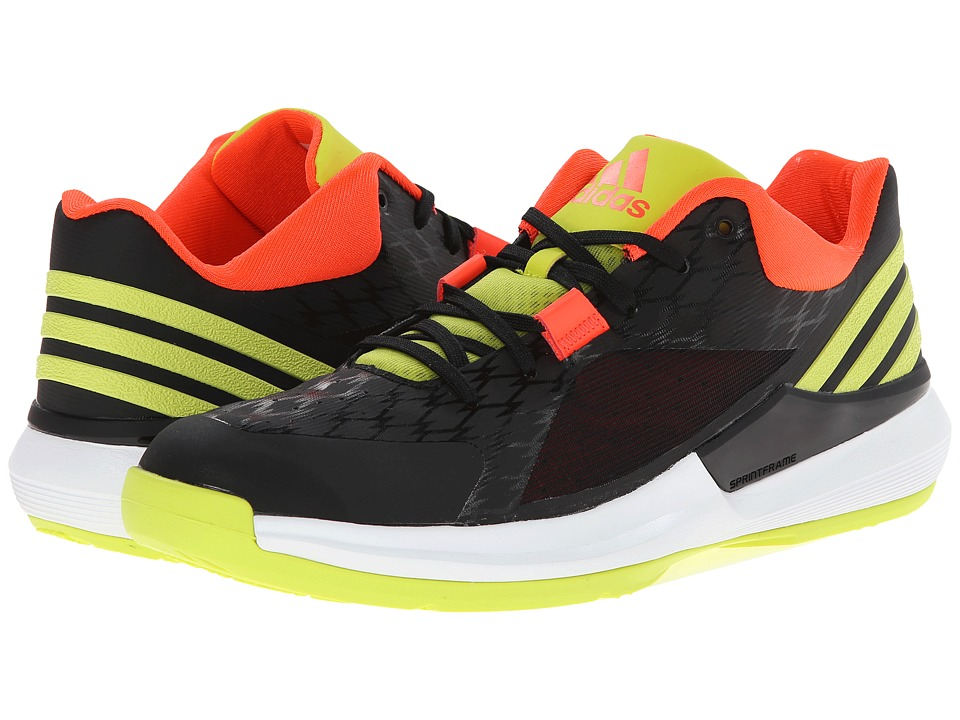 adidas - Crazy Strike Low (Black/Semi Solar Yellow/Solar Red) Men's Basketball Shoes