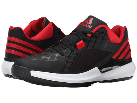 adidas - Crazy Strike Low (Black/Scarlet/Core White) Men's Basketball Shoes