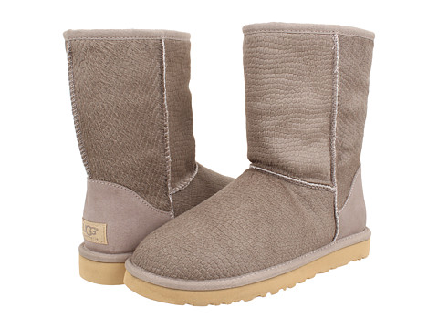 UGG - Classic Short Calf Hair Scales (Oyster Calf Hair) Women's Pull-on Boots