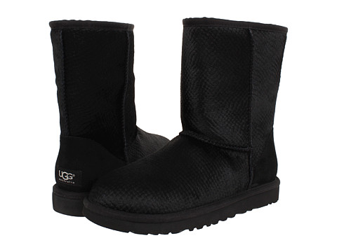 UGG - Classic Short Calf Hair Scales (Black Calf Hair) Women's Pull-on Boots