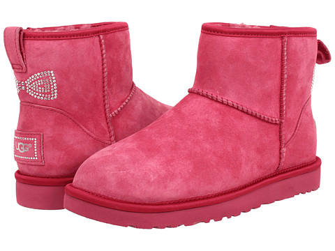 UGG - Classic Mini Crystal Bow (Tropical Sunset/Suede/Swarovski Crystals) Women's Boots