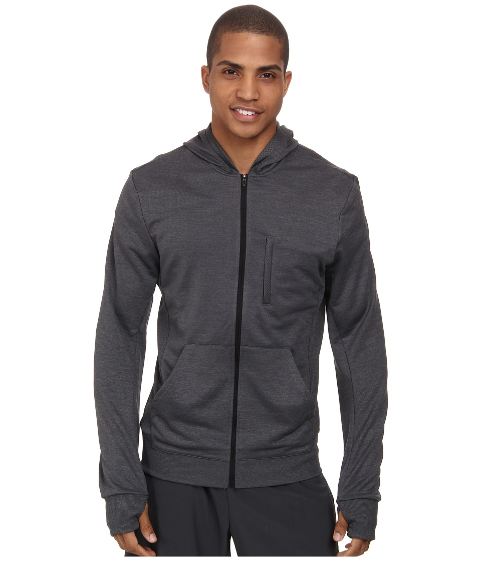 adidas - Beyond The Run Hoodie (Dark Grey Heather/Black) Men's Sweatshirt