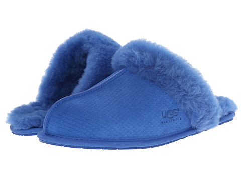 UGG - Scuffette II Exotic Scales (Marine Blue Suede) Women's Slippers