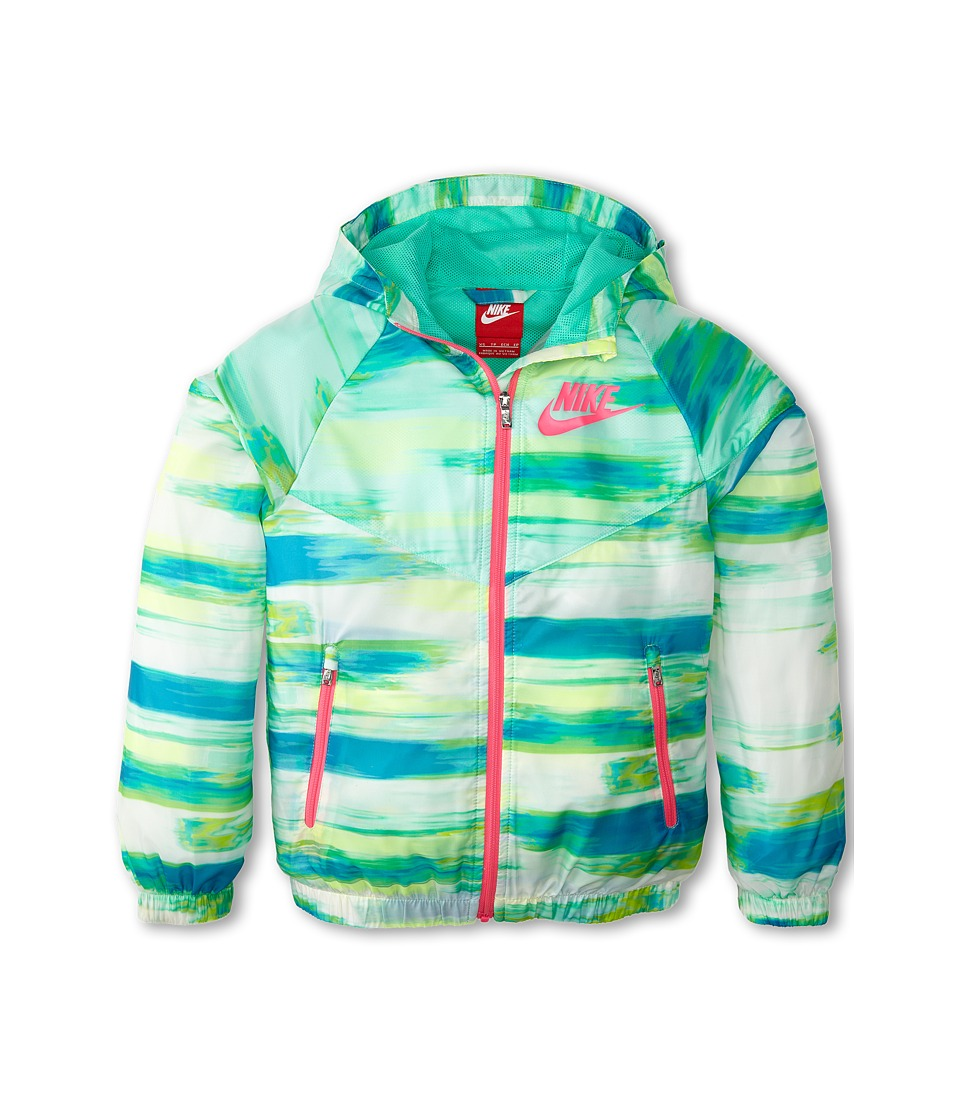 Nike Kids - Flight WT AOP Windrunner (Little Kids/Big Kids) (Menta/Menta/Pink Pow) Girl's Coat