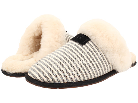 UGG - Scuffette II Stripe (Black Textile) Women's Slippers