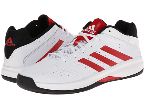 adidas - Isolation 2 Low (Core White/Scarlet/Black) Men's Shoes