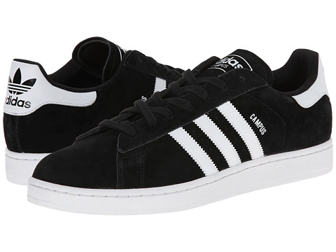 adidas Originals - Campus 2 (Black/White/Black) Classic Shoes