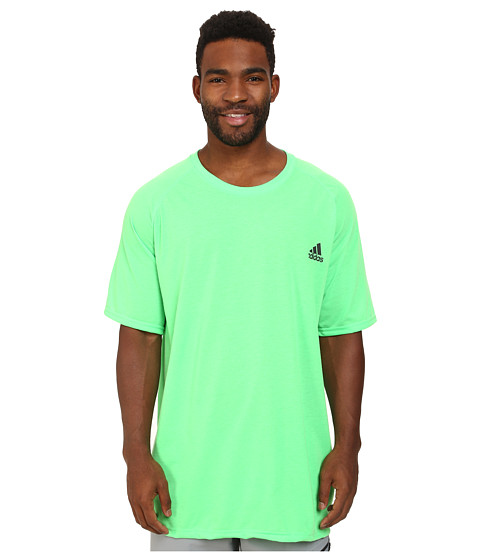 adidas - Ultimate S/S Crew Tee (Flash Green/DGH Solid Grey) Men's T Shirt